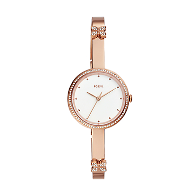Maxine Three-Hand Rose Gold-Tone Stainless Steel Watch