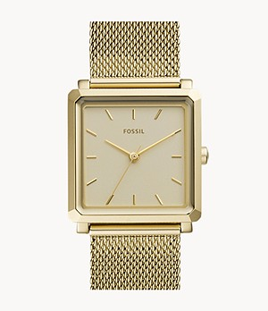 Julienne Three Hand Gold-Tone Stainless Steel Watch