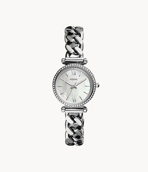 Carlie Mini Three-Hand Stainless-Steel Watch