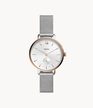 Kalya Three-Hand Two-Tone Stainless Steel Watch