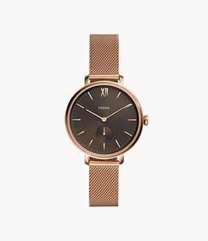 Kalya Three-Hand Rose-Gold-Tone Stainless-Steel Watch