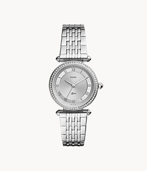Lyric Three-Hand Stainless Steel Watch