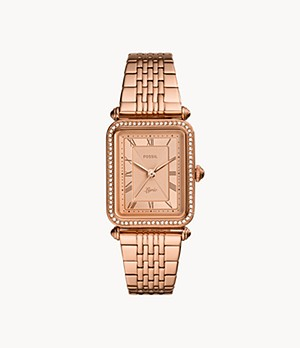 Lyric Three-Hand Rose Gold-Tone Stainless Steel Watch