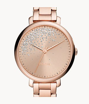 Jacqueline Three-Hand Rose-Gold-Tone Stainless-Steel Watch