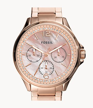 Sadie Multifunction Rose Gold-Tone Stainless Steel Watch