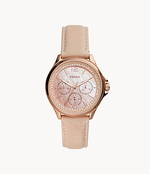 Sadie Multifunction Blush Leather Watch