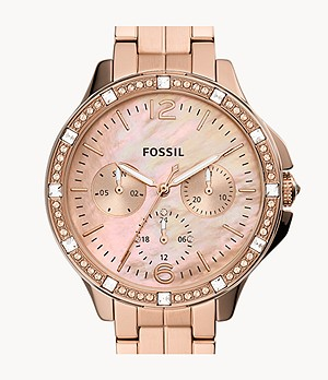 Finley Multifunction Rose Gold-Tone Stainless Steel Watch