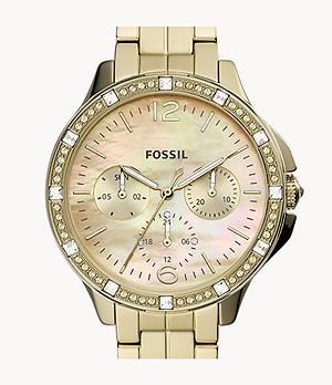 Finley Multifunction Gold-Tone Stainless Steel Watch