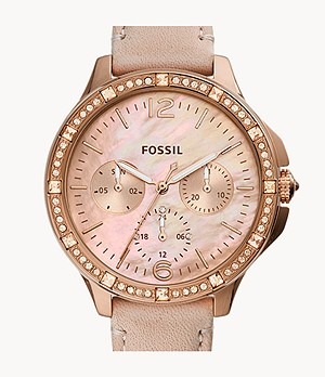 Finley Multifunction Blush Leather Watch