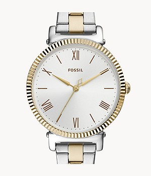 Daisy Three-Hand Two-Tone Stainless-Steel Watch