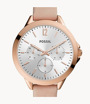 Alyssa Multifunction Blush Leather Watch
