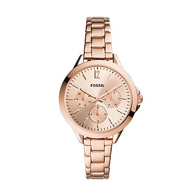 Alyssa Multifunction Rose Gold-Tone Stainless Steel Watch