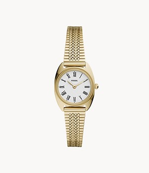 Jude Mini Two-Hand Gold-Tone Stainless Steel Watch