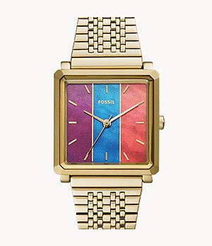 Julienne Three-Hand Gold-Tone Stainless Steel Watch