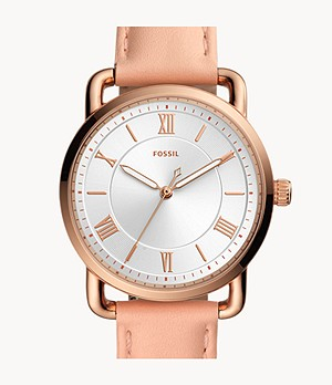 Copeland Three-Hand Nude Leather Watch