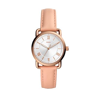 Copeland Three-Hand Nude Leather Watch