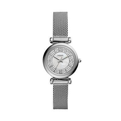Carlie Mini Three-Hand Stainless Steel Watch