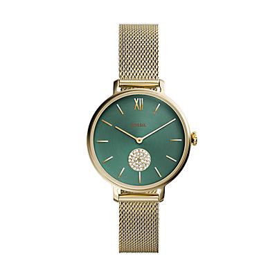 Kalya Three-Hand Gold-Tone Stainless Steel Watch