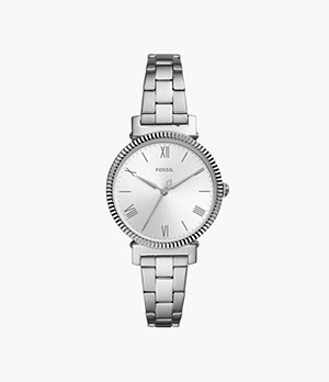Daisy Three-Hand Stainless Steel Watch