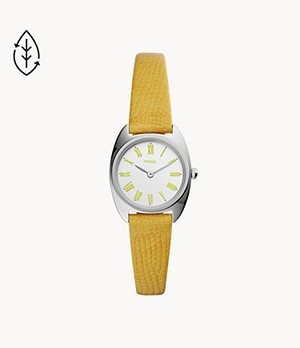 Jude Mini Two-Hand Lemon Leather Watch