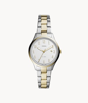 Lady Forrester Three-Hand Date Two-Tone Stainless Steel Watch