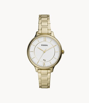 Winnie Three-Hand Gold-Tone Stainless Steel Watch
