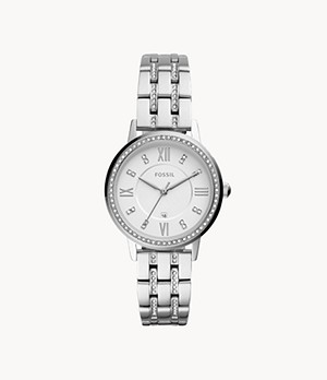 Gwen Three-Hand Date Stainless Steel Watch