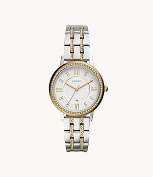 Gwen Three-Hand Date Two-Tone Stainless Steel Watch