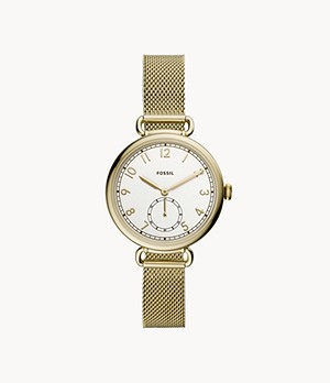 Josey Three-Hand Gold-Tone Stainless Steel Watch