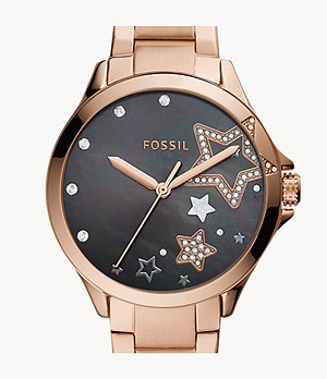 Sadie Three-Hand Rose Gold-Tone Stainless Steel Watch
