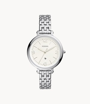 Monroe Three-Hand Date Stainless Steel Watch