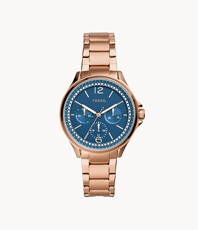 Fossil Sadie Multifunction Rose Gold-Tone Stainless Steel Watch