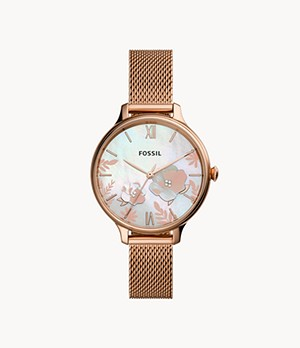 Winnie Three-Hand Rose Gold-Tone Stainless Steel Watch