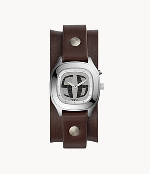 Big Tic Analogue-Digital Brown Leather Watch
