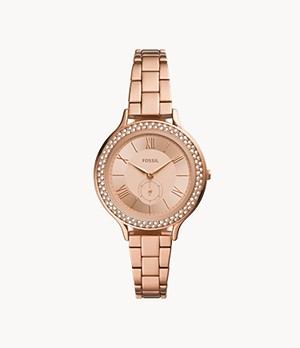 Neomi Three-Hand Rose Gold-Tone Alloy Watch