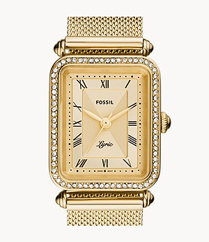 Lyric Three-Hand Gold-Tone Stainless Steel Watch
