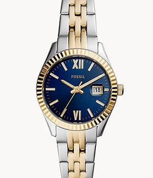 Scarlette Micro Three-Hand Date Two-Tone Stainless Steel Watch