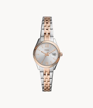 Micro Scarlette Three-Hand Date Two-Tone Stainless Steel Watch