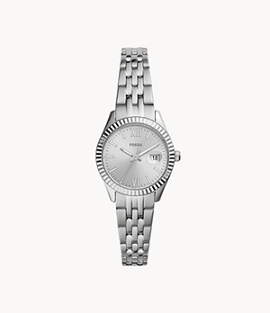 Micro Scarlette Three-Hand Date Stainless Steel Watch