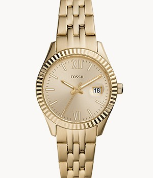 Scarlette Micro Three-Hand Date Gold-Tone Stainless Steel Watch
