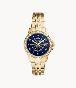 FB-01 Three-Hand Date Gold-Tone Stainless Steel Watch