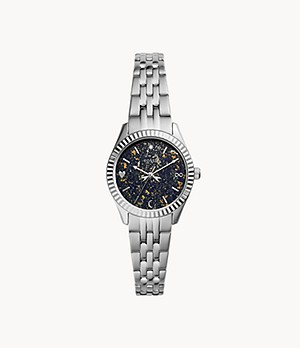 Scarlette Mini Three-Hand Date Stainless Steel Watch