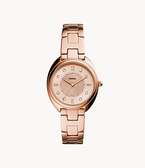 Gabby Three-Hand Date Rose Gold-Tone Stainless Steel Watch