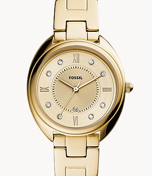 Gabby Three-Hand Date Gold-Tone Stainless Steel Watch