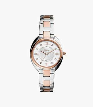 Gabby Three-Hand Date Two-Tone Stainless Steel Watch
