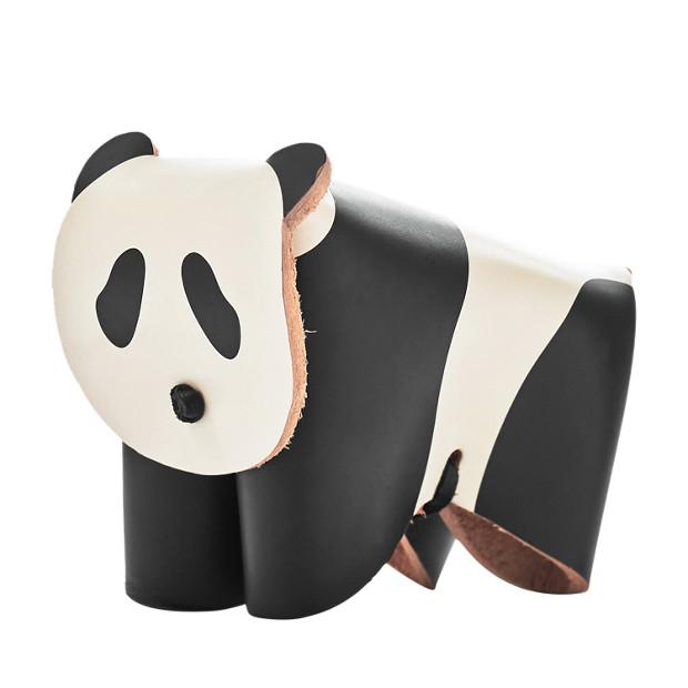 Panda en cuir