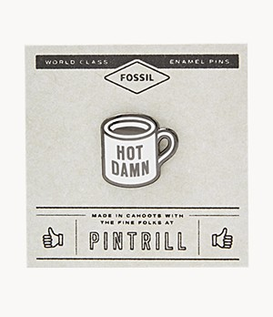 Pintrill® x Fossil Hot Damn Mug Pin