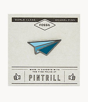Pintrill® x Fossil Blue Paper Plane Pin