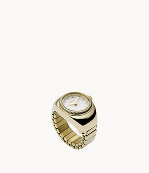 Gold-Tone Stainless Steel Watch Ring