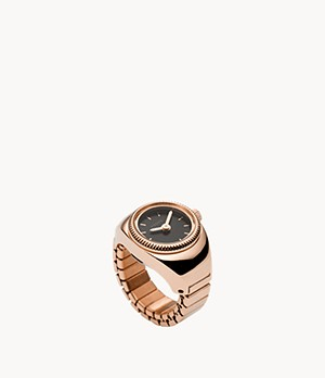 Rose Gold-Tone Stainless Steel Watch Ring